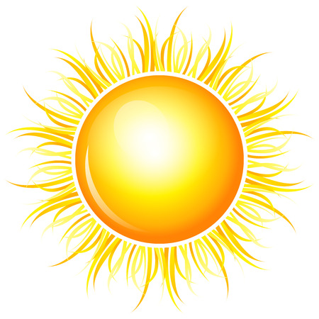 Vector illustration von glänzenden Sonne Standard-Bild