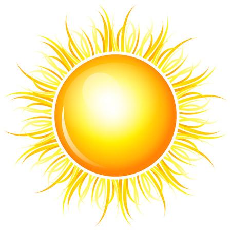 sonne: Vector illustration von gl�nzenden Sonne Lizenzfreie Bilder