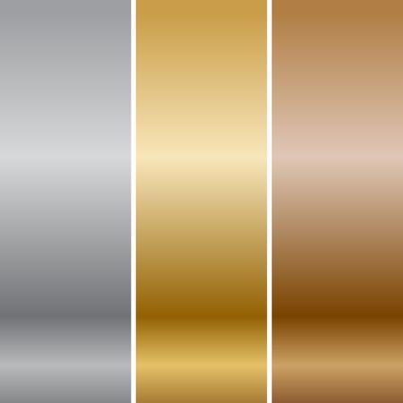 Vector metal textures Foto de archivo