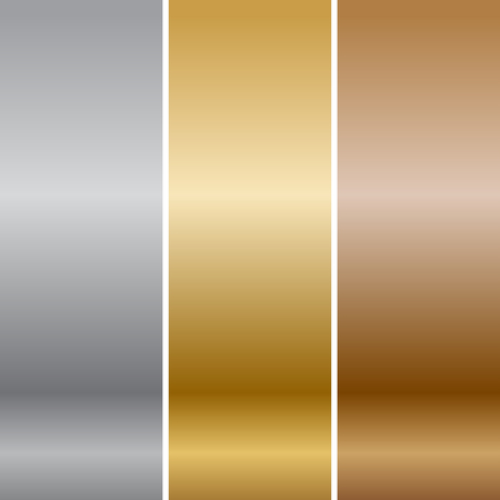 shiny metal: Vector metal textures Stock Photo