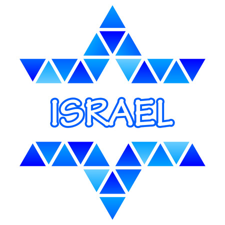jewish faith: Vector illustration of David Star mosaic icon - Israel