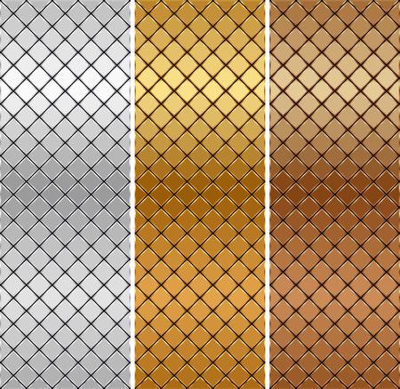 Vector golden, silver, bronze mosaic background Standard-Bild