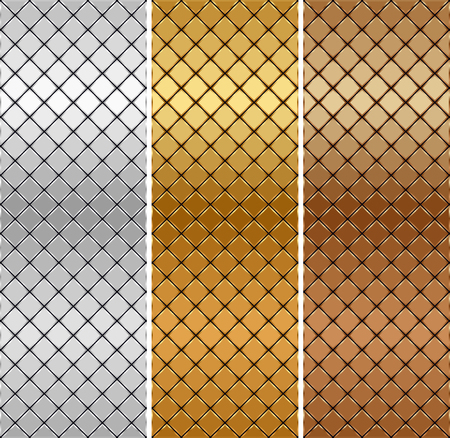 Vector golden, silver, bronze mosaic background Banco de Imagens