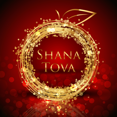 Vector Shana Tova Happy New Year card