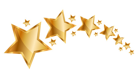 star award: Vector illustration gold stars Stock Photo