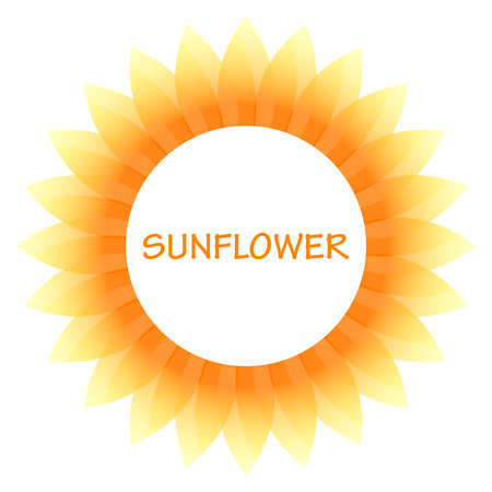 isolated on yellow: Vector sunflower icon