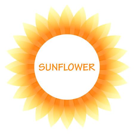 yellow orange: Vector sunflower icon