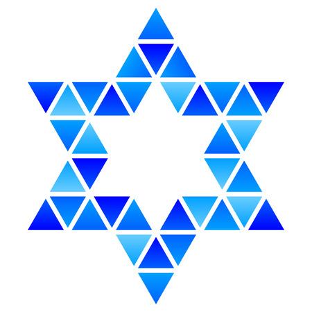 jewry: Vector illustration of David Star mosaic icon Stock Photo