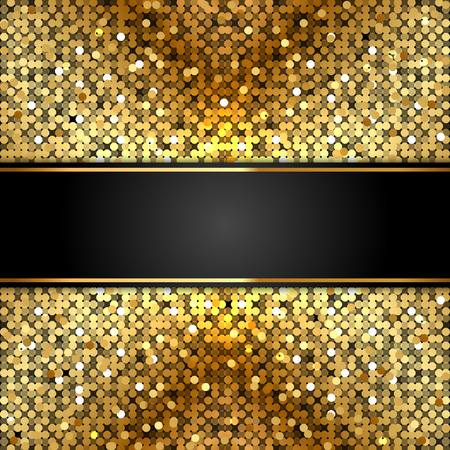 shiny gold: Vector shiny background with gold sequins