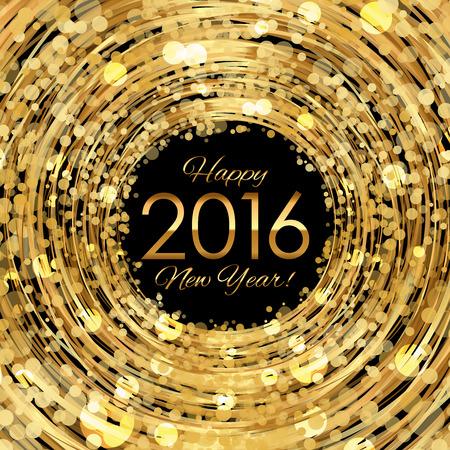 Vector 2016 glühend gold Hintergrund