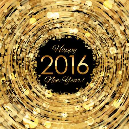 Vector 2016 glowing gold background