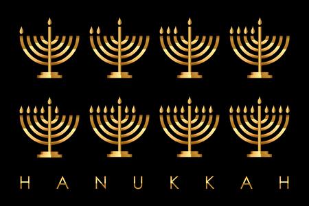 menora: Vector Hanukkah card