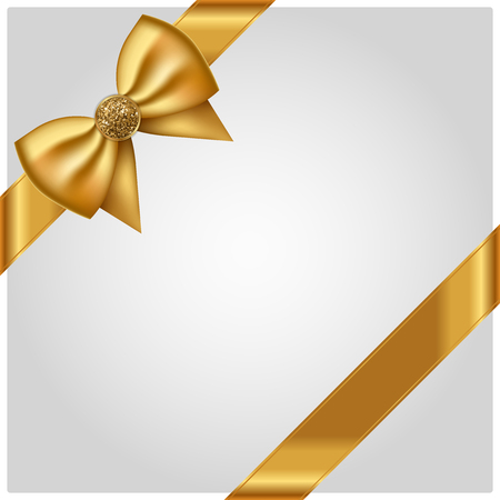 gold bow: Vector luxury background with gold bow Vectores