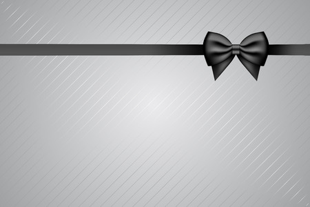 obituary: Vector background with black ribbon
