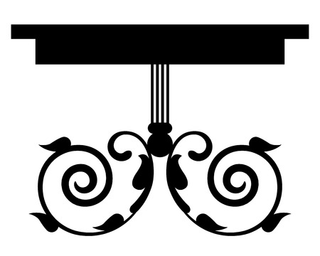 console table: Vector illustration of vintage table