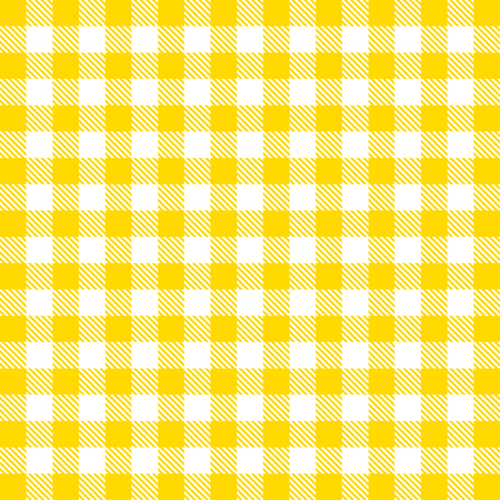 Vector gingham seamless pattern in yellow Illustration