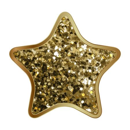 shiny gold: Vector illustration of gold shiny star