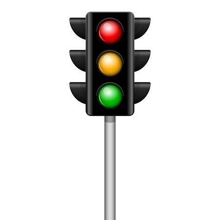 traffic light: Vector illustration of traffic light