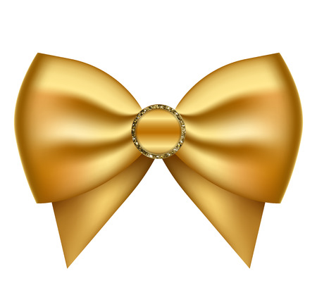 egghead: Vector illustration of gold decorated bow Illustration