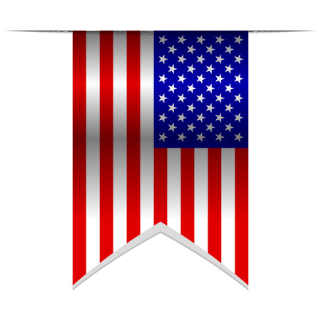 wave equality: Vector illustration of USA flag