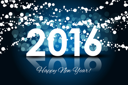 numbers clipart: Vector 2016 - Happy New year background Illustration