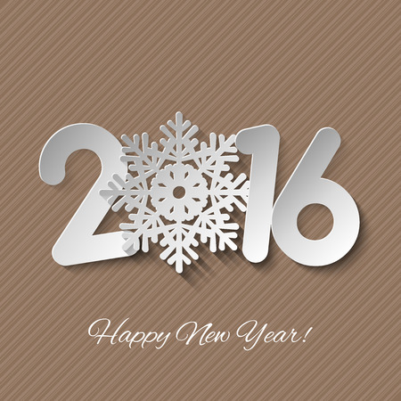 cuttings: Vector Happy New Year background with paper cuttings Illustration