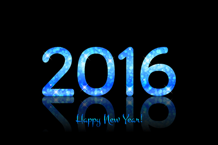 Vector 2016 Happy New Year background Illustration