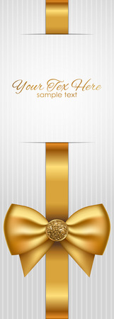 gold bow: Vector luxury background with gold bow Illustration