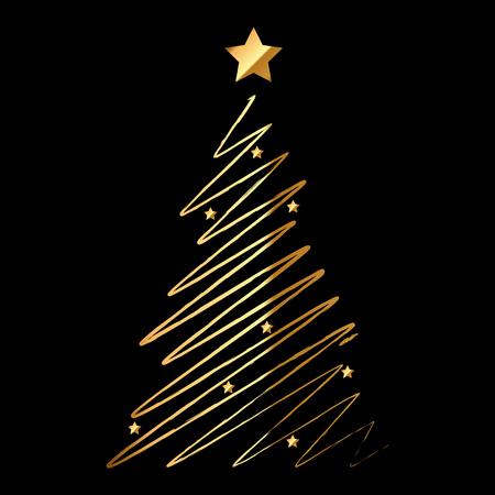 abetos: Ilustración del vector del árbol de navidad