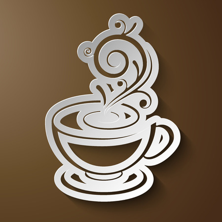 cuttings: Vector cup icon - paper cuttings