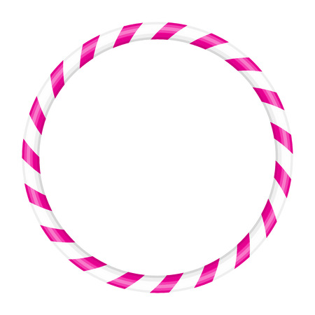 hulahoop: Vector illustration of pink and white hoop Illustration