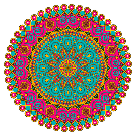 Vector colorful Mandala. Round ornament Pattern