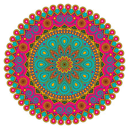 eastern spirituality: Vector colorful Mandala. Round ornament Pattern