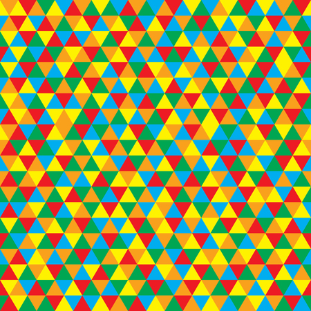 interior cell: Vector colorful triangles pattern Illustration