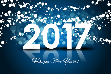 froze: Vector 2017 - Happy New year background