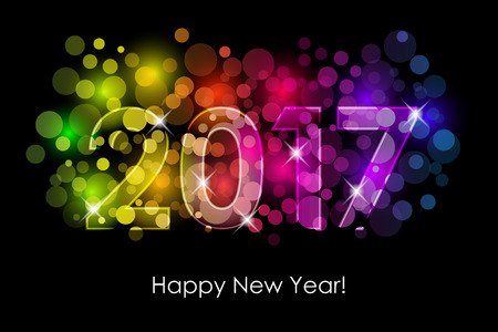 seasons of the year: Vector Happy New Year - 2017 colorful background