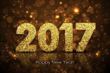 Vector Happy New Year 2017 background Vettoriali