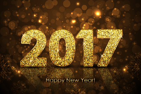 Vector Happy New Year 2017 background Stock Illustratie