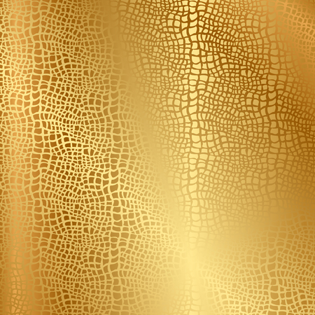 leatherette: Vector gold texture