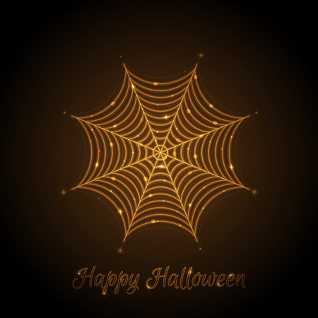 ploy: Vector illustration of glowing cobweb