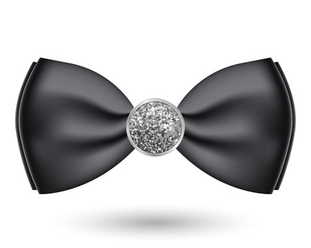 Vector illustration of black bow