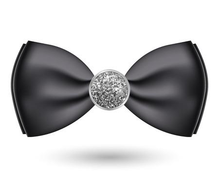 solemn: Vector illustration of black bow