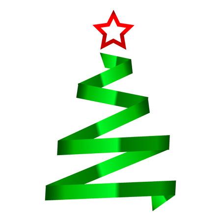 Vector illustration de l'arbre de Noël
