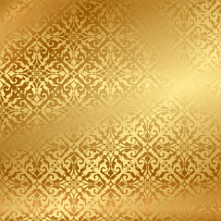 Vector gold background with pattern