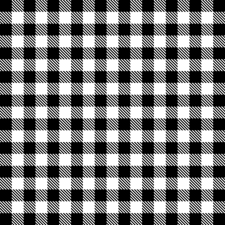 Vector gingham seamless pattern in black and white