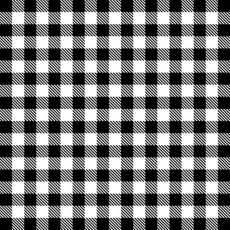 Modelo inconsútil de la guinga del vector en blanco y negro Ilustración de vector