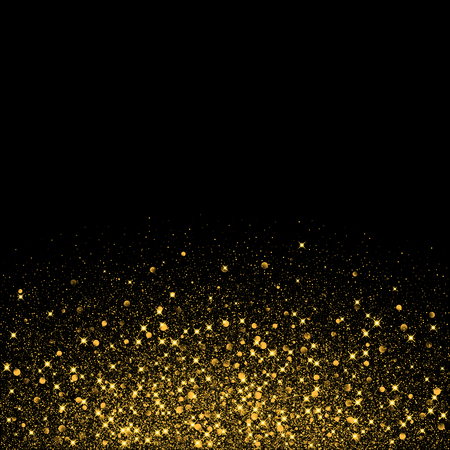 sparklers: Vector luxury black background with gold sparklers