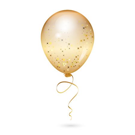 A Vector illustration of gold shiny balloon.