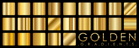 shiny: Vector set of golden gradients
