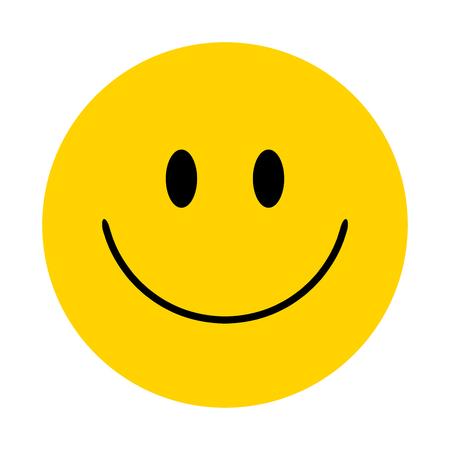 Smiley. Vector happy face